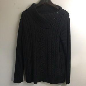 Covington Cable Knit Sweater. Size Large